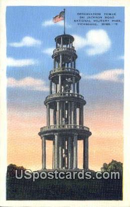 Jackson Road, National Military Park - Vicksburg, Mississippi MS Postcard