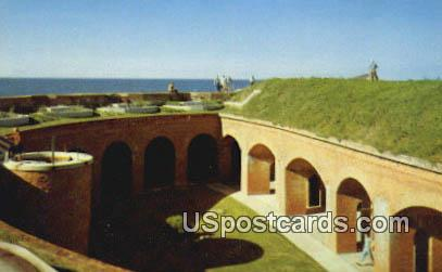 Fort Massachusetts - Ship Island, Mississippi MS Postcard