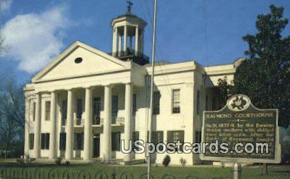 Raymond Courthouse - Mississippi MS Postcard
