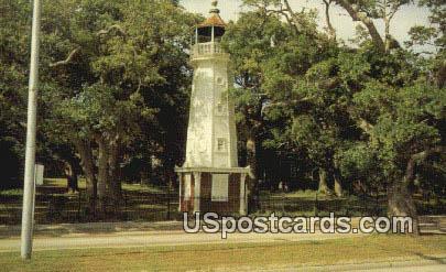 Baldwin Wood Lighthouse - Biloxi, Mississippi MS Postcard