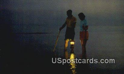 Floundering on the Gulf Coast - Mississippi Gulf Coast Postcards, Mississippi MS Postcard