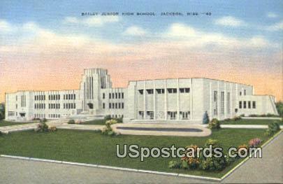 Bailey Junior High School - Jackson, Mississippi MS Postcard