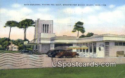 Main Building, Broadwater Beach - Biloxi, Mississippi MS Postcard