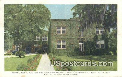 Hotel Reed - Bay St. Louis, Mississippi MS Postcard