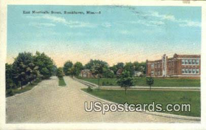 East Monticello Street - Brookhaven, Mississippi MS Postcard