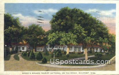 Moody's Modern Tourist Cottages - Gulfport, Mississippi MS Postcard