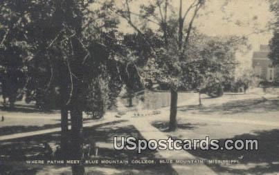 Blue Mountain College - Mississippi MS Postcard