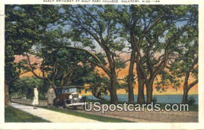 Gulf Park College - Gulfport, Mississippi MS Postcard