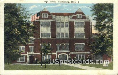High School - Hattiesburg, Mississippi MS Postcard
