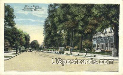 Cherry Street - Vicksburg, Mississippi MS Postcard