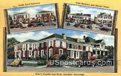 Riley's Hospital & Clinic - Meridian, Mississippi MS Postcard