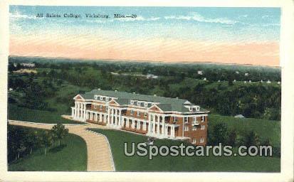 Saints College - Vicksburg, Mississippi MS Postcard
