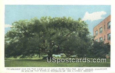 Gulf Park College - West Beach, Mississippi MS Postcard