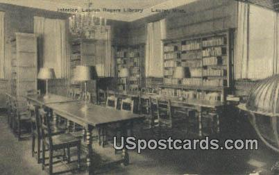 Lauren Rogers Library - Laurel, Mississippi MS Postcard