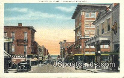 Washington Street - Vicksburg, Mississippi MS Postcard