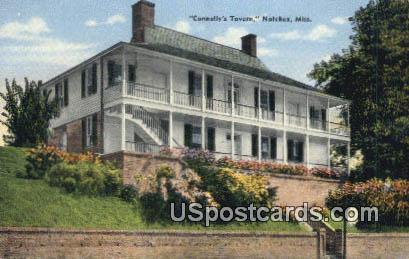 Corner Jefferson & Canal Street - Natchez, Mississippi MS Postcard