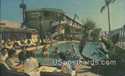 Cabana Beach Motel - Biloxi, Mississippi MS Postcard