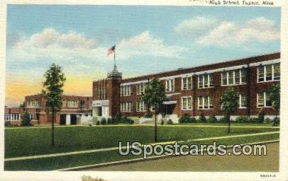 High School - Tupelo, Mississippi MS Postcard