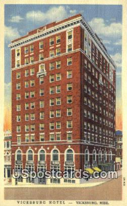 Vicksburg Hotel - Mississippi MS Postcard