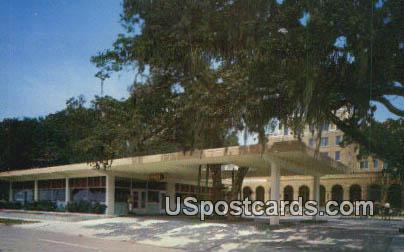 Trade Winds Hotel Court - Biloxi, Mississippi MS Postcard