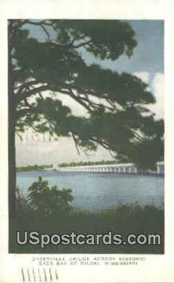 D'Iberville Bridge - Biloxi, Mississippi MS Postcard
