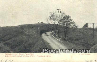 Stockade Fort, Grave Yard Road - Vicksburg, Mississippi MS Postcard