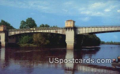Yazoo River Bridge - Yazoo City, Mississippi MS Postcard