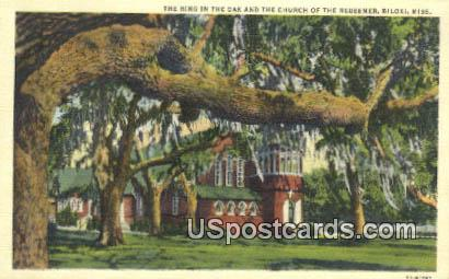 Ring in the Oak, Church of the Redeemer - Biloxi, Mississippi MS Postcard