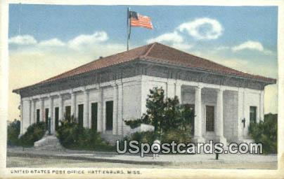 United States Post Office - Hattiesburg, Mississippi MS Postcard