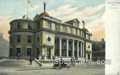 City Hall - Vicksburg, Mississippi MS Postcard