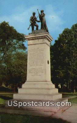 Confederate Monument - Yazoo City, Mississippi MS Postcard