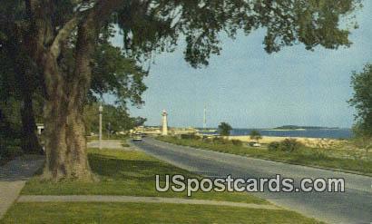 Along the Coast - Biloxi, Mississippi MS Postcard
