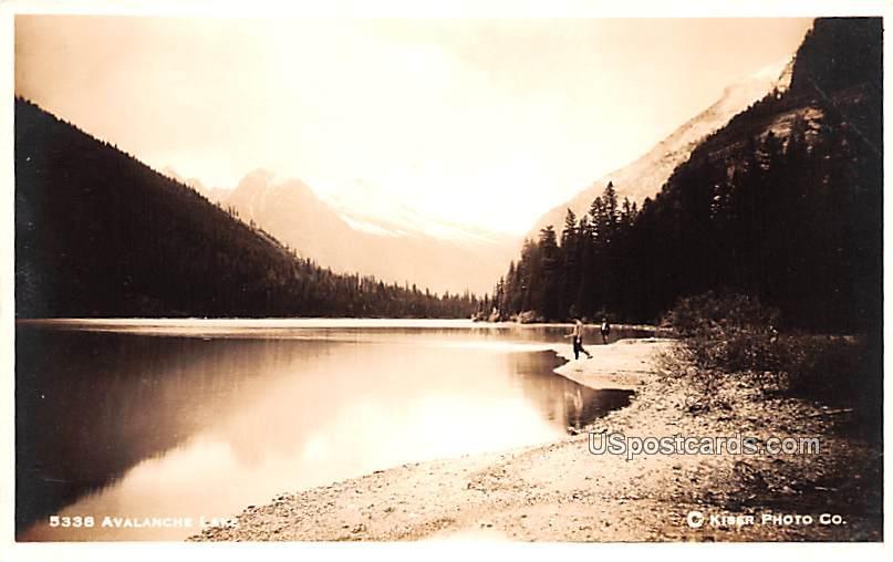 Lake View - Avalanche Lake, Montana MT Postcard