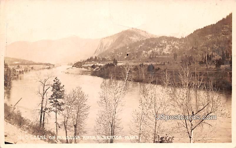 Scene on Missoula River - Alberton, Montana MT Postcard