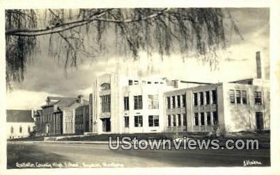 Real Photo - Gallatin County High School - Bozeman, Montana MT Postcard