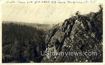 Real Photo - R.R. Track - Misc, Montana MT Postcard