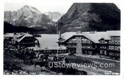Real Photo - Many Glacier Hotel - Misc, Montana MT Postcard
