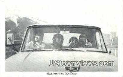 Real Photo - Montana Double Date - Misc Postcard