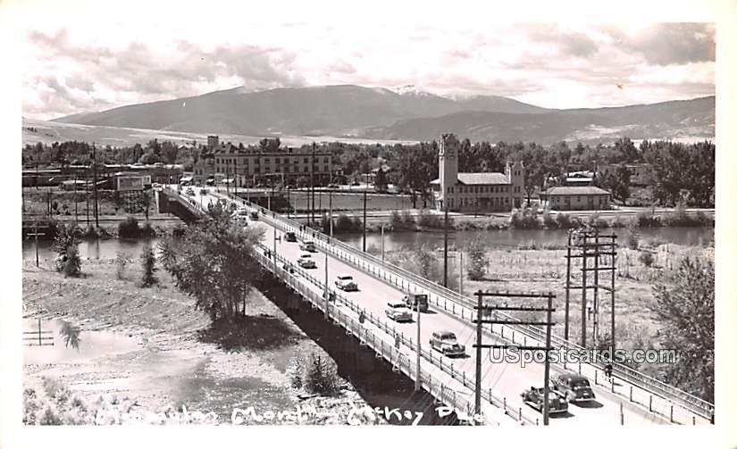 Street Scene - Missoula, Montana MT Postcard
