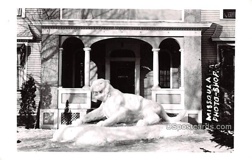 Winter Sculpture - Missoula, Montana MT Postcard