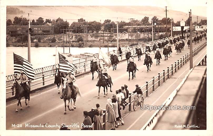 Missoula County Sheriff's Posse - Montana MT Postcard