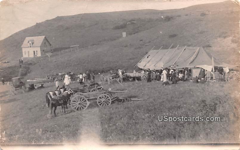 Camp Site - Misc, Montana MT Postcard
