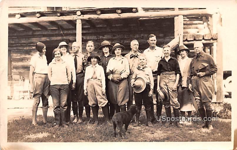 Horse Ranch - Misc, Montana MT Postcard