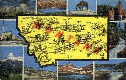 Misc, Montana, MT Postcard