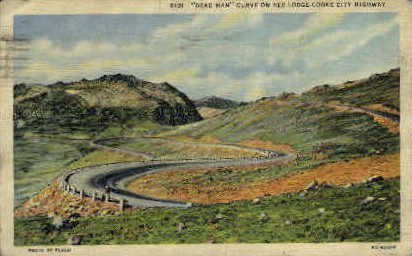Dead Man Curve - Misc, Montana MT Postcard