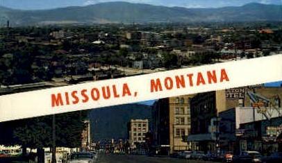 Missoula, Montana, MT Postcard