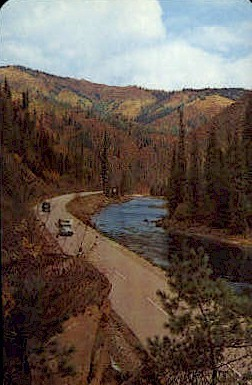 The Lewis and Clark Highway - Missoula, Montana MT Postcard
