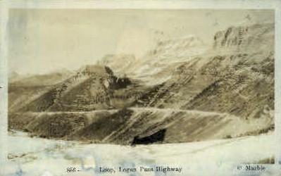 Loop, Logan Pass Highway - Misc, Montana MT Postcard