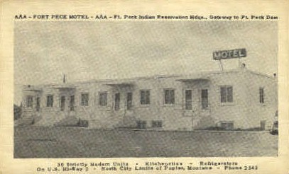 Fort Peck Motel - Misc, Montana MT Postcard