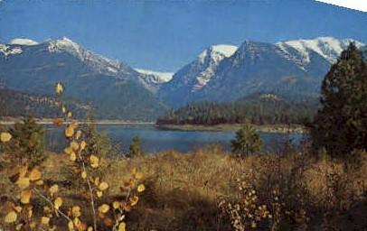 Mission Lake and Mission Range - Missoula, Montana MT Postcard